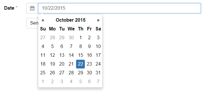 Script Calendario Html.Tutorial Add A Date Picker To A Bootstrap Form Formden Com